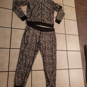 Juicy Couture Leopard Jogger Hoodie set